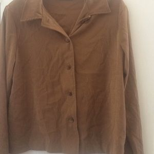 Ladies Briggs New York blouse large